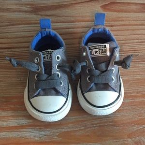 Baby Converse Gray and Blue size 3